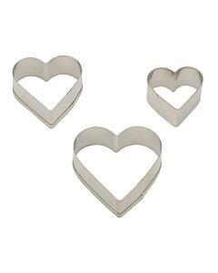 Städter uitsteekvorm hart rvs 3-delig