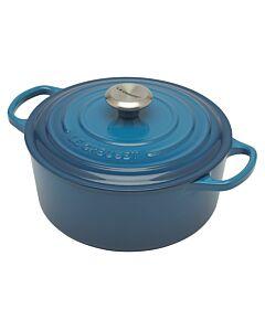 Le Creuset Signature braadpan 4,2 liter ø 24 cm gietijzer Marseilleblauw