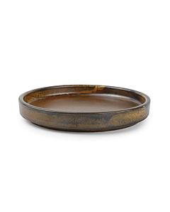 Fine-to-Dine Escura bord met opstaande rand ø 13,5 cm porselein donkerbruin
