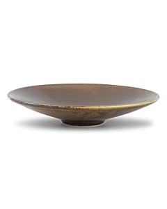 Fine-to-Dine Escura lage schaal ø 22,5 cm porselein bruin
