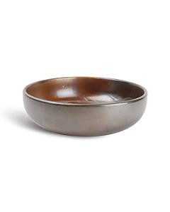 Fine-to-Dine Escura schaal ø 20 cm porselein donkerbruin