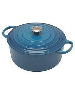 Le Creuset Signature braadpan 6,7 liter ø 28 cm gietijzer Marseilleblauw