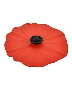 Charles Viancin Poppy deksel ø 20 cm silicone rood