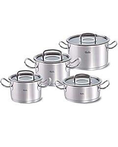Fissler original-profi collection pannenset met braadpan en glasdeksels 4-delig