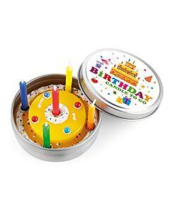 Donkey Birthday To Go kaars ø 8 cm geel