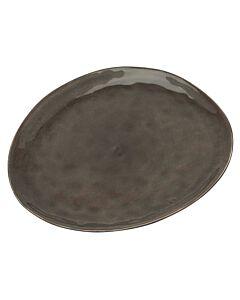 Serax Pure ontbijtbord ovaal ø 28 cm keramiek grijs