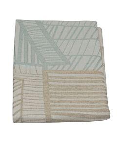 by TextielMuseum glazendoek Mara Skujeniece - Farm Fabrics 79 x 82 cm lichtblauw-beige
