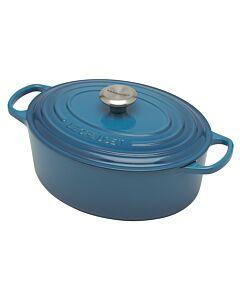 Le Creuset Signature braadpan ovaal 4,7 liter ø 29 cm gietijzer Marseilleblauw