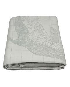by TextielMuseum tafellaken Scholten & Baijings - Life of a tuna fish 298 x 160 cm grijs