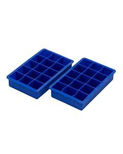 Tovolo ijsblokjesvorm 15 vakken silicone blauw 2 stuks