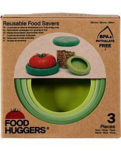 Food Huggers soft green vorm silicone 3-delig