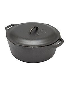 Lodge Logic braadpan met schenktuiten ø 30 cm gietijzer zwart