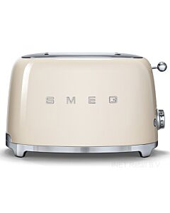 SMEG 50's style broodrooster 2 sleuven staal crème