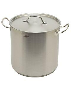 Inoxibar industriële soeppan 21 liter ø 30 cm rvs mat