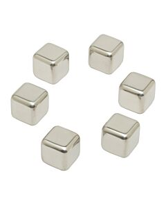 Inoxibar herbruikbare ijsblokjes 2,6 cm rvs 6 stuks