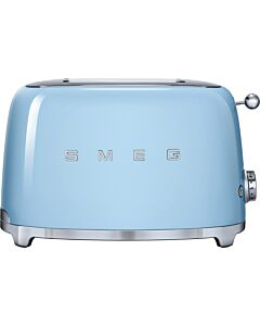 Smeg 50's style broodrooster 2 sleuven staal pastelblauw
