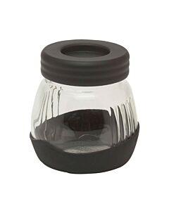 Kyocera glas met deksel voor handkoffiemolen zwart