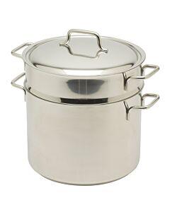 Demeyere Apollo kookpan met pasta-inzet ø 24 cm rvs