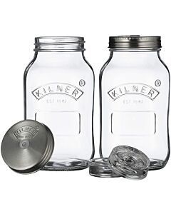 Kilner fermentatiepotten 1 liter glas 2 stuks