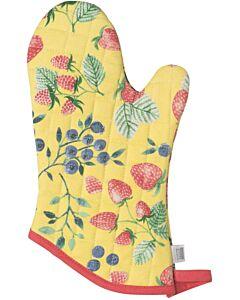 Now Designs Berry Patch ovenwant 30 x 13 cm katoen geel