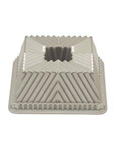 Nordic Ware Squared Bundt bakvorm 22 x 22 cm gietaluminium grijs