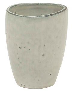 Broste Copenhagen Nordic Sand beker ø 8 cm aardewerk wit