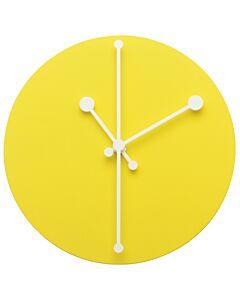 Alessi Dotty Clock wandklok staal ø 20 cm geel