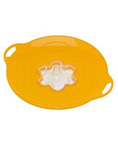 Silikomart Vapo Twist deksel met toevoergat ø 30 cm silicone geel