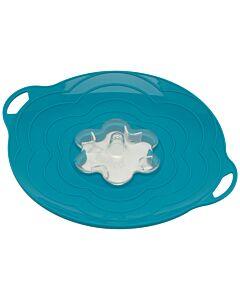 Silikomart Vapo Twist deksel met toevoergat ø 30 cm silicone blauw