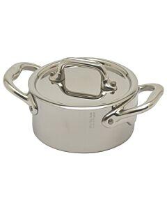 Mauviel M'Minis kookpan met deksel rond ø 9 cm rvs