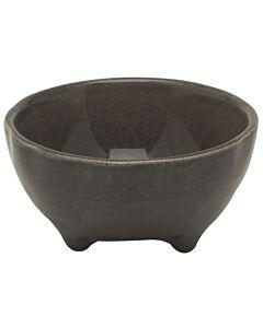 Broste Copenhagen Nordic Coal kom op pootjes ø 11 cm aardewerk bruin