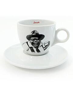 Lucaffé Mr. Exclusive cappuccinokop en schotel zwart 2-delig