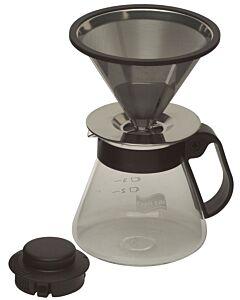 Capri Life koffie opschenkfilterset 500 ml - 5-kops met permanentfilter
