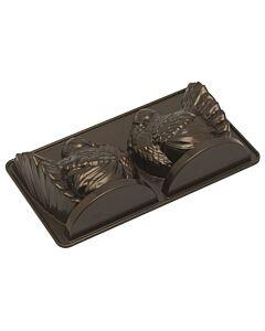 Nordic Ware 3D Classic Turkey kalkoen bakvorm 2,4 liter aluminium bronskleurig