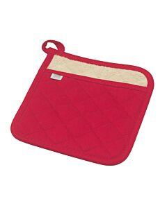 Now Designs Superior pannenlap 20 x 20 cm katoen rood