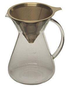 Capri Life koffie opschenkfilterset 900 ml - 6-kops met titanium goudfilter