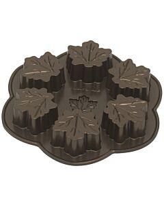 Nordic Ware Maple Leaf esdoornblad bakvorm ø 25 cm aluminium bronskleurig