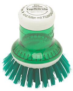 Redecker pannenborstel met doseersysteem kunststof groen