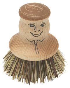 Redecker pannenborstel natuurvezel ø 7 cm hout