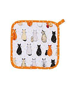Ulster Weavers Cats in Waiting pannenlap oranje