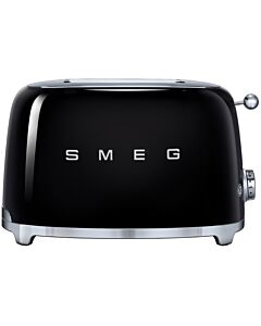 Smeg 50's style broodrooster 2 sleuven staal zwart