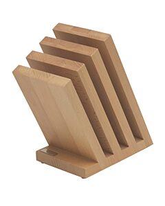 Artelegno Venezia magnetisch messenblok voor 8 messen beukenhout naturel