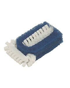 Brushtech reinigingsspons met borstels kunststof blauw
