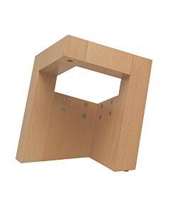 Oldenhof Pisa magnetisch messenblok vierkant voor 8 messen beukenhout naturel