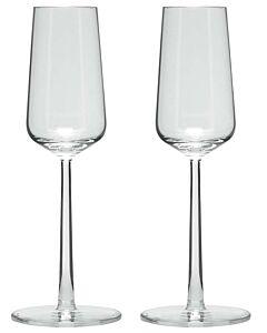 Iittala Essence champagneglas 210 ml glas transparant 2 stuks
