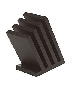 Artelegno Venezia magnetisch messenblok voor 8 messen beukenhout zwart