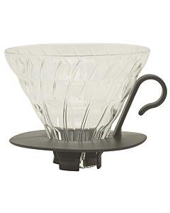 Hario opschenkfilter 1- tot 4-kops glas zwart