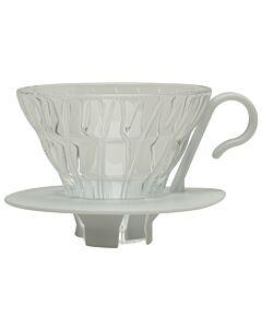 Hario opschenkfilter 1- tot 2-kops glas wit