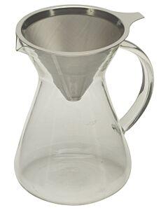 Capri Life koffie opschenkfilterset 600 ml - 4-kops met permanentfilter