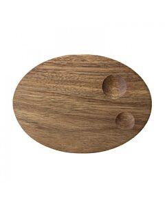 Bloomingville eierdop 15 x 11 cm h 2,5 cm acaciahout bruin